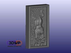 Hanoi Tiger Vietnam Wall Hanger (Bas Relief 3D Scan)