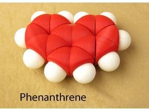 Space-filling molecular models: Phenanthrene adventure pack