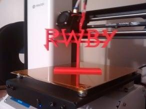 RWBY Logo w/ Stand