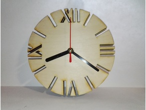 Wooden clock - lasercut