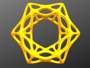organic hexagon pendant