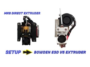 3D Printer P3Steel Bowden Extruder E3Dv5 Remix Setup