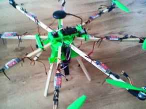 Octocopter hub - top section