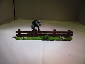 28 mm warhammer scale - simple wooden fence