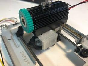 Laser mounting bracket (OEM-style) for NEJE desktop USB laser engraver (and other brands)