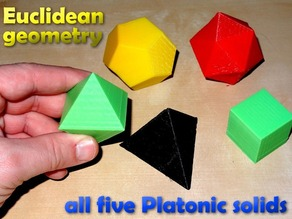 Platonic solid in Euclidean geometry / Platonische Koerper