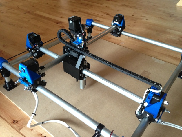 Conduit And Motor Mount For Drag Chain For Mpcnc Z Axis By
