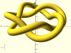 Parametric knot - smoothed version