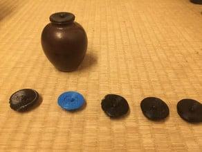 Chaire no futa (lid for tea caddy)