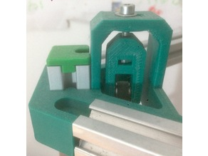 delta (kossel mini) vertex for 2020 extrusion with motor shaft support and tensioner
