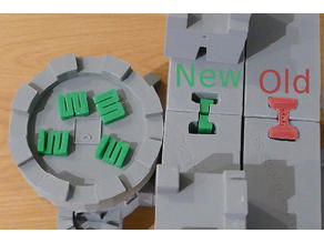 Spring Connector for Modular Castle Playset Modules