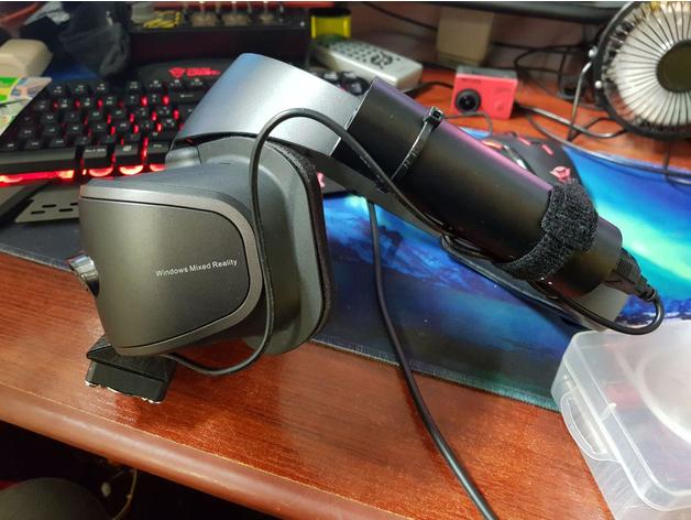 Fan cooler attachment for Windows Mixed Reality Headsets (Lenovo