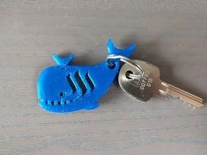 Steemit Whale Keychain