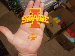 Iowa State ISU logo (No supports)