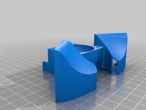 Dual 40mm fan duct
