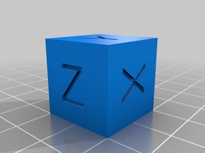 Customizable Calibration Cube and (Dual Color) Print Sample