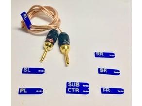 Surround Sound Speaker Wire Labels