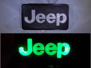 Jeep Emblem LED Light/Nightlight
