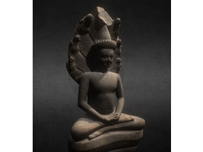 Buddha protected by the naga
