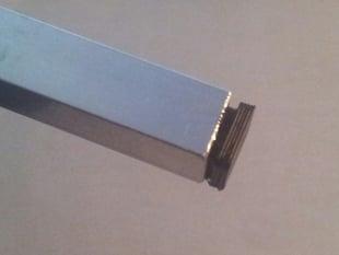 Tapón para tubo 10x10 mm exterior (8x8 mm interior)