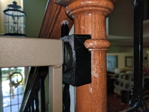 Bannister adapter for dog gate (not children) (Updated)