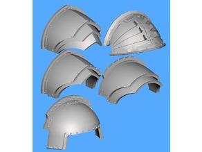 Dominion Crusader MK3 alternative shoulder pads (28mm)