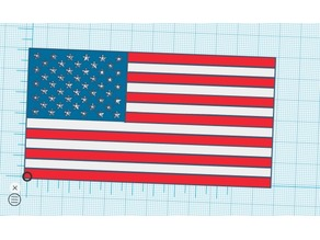 American Flag Laying Down - Multicolor Palatte