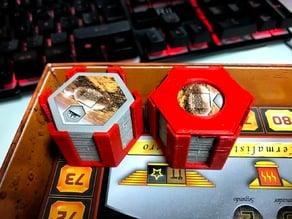 Parametric tile holder for boardgame tiles