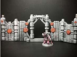 Z.O.D. Sci-Fantasy Walls (28mm/Heroic scale)