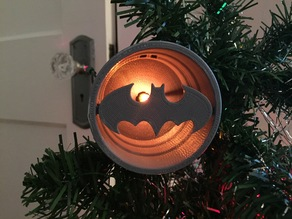 Batman Bat Signal Tree Ornament