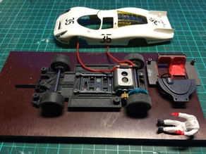 Slot car chassis for SRC P 907/ 908 1:32