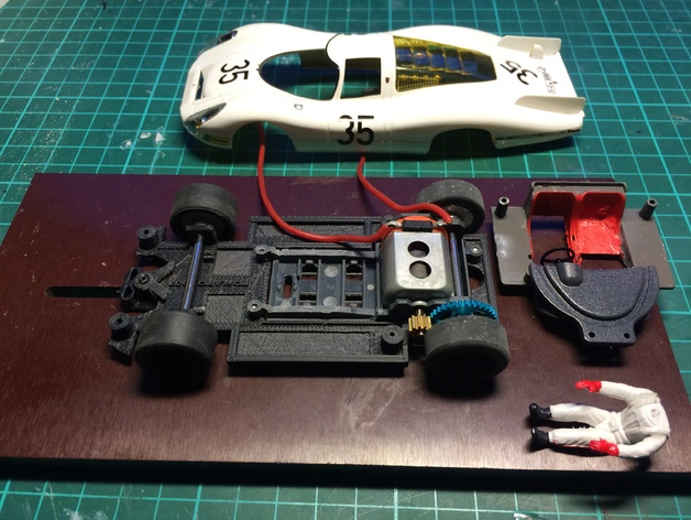 Slot Car Chassis For Src P 907 908 1 32 By Tomato 007