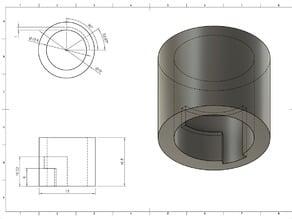 Shutter-crank rivet locking washer