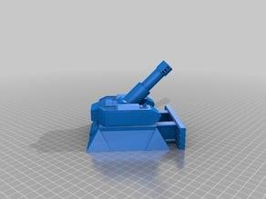 Heavy Mortar turret for 28mm wargames. Warhammer, warpath ect