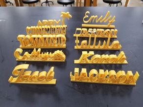 Desk Name Plate Project 2018