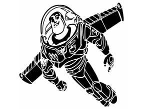 Buzz Lightyear stencil