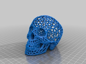 Voronoi-style Skull with no supports