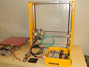TK300 REPRAP 3d printer with steel side plates and CNC Aluminum connecting parts
