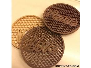 Inspirational Coasters - ESL lesson