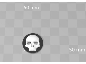 simple skull button fixed