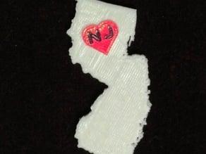 New Jersey State Keychain