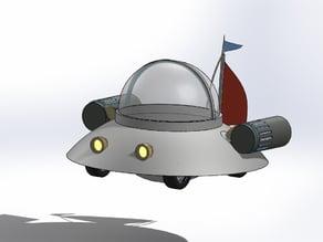 Rick and Morty Flyin' Vehicle