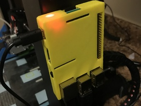 Wanhao i3 Clip on Raspberry Pi Octoprint Case
