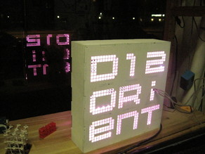disorient LED bike sign