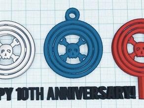 Hackaday Gimbal Set - 10th Anniversary Edition