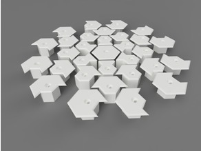 Nanoleaf Wall Mount with angled and sunken nail