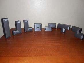 Modern Tetris Tetromino Set