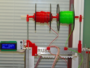 Prusa i3 Metal Frame Combined LCD and Spool Holder