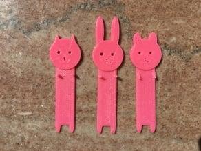 Small Animal Friends Bookmarks Bookmark - Bunny Bear & Cat