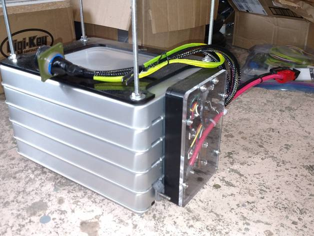 nissan leaf battery pack terminal cover by ryanpriore thingiverse. Black Bedroom Furniture Sets. Home Design Ideas